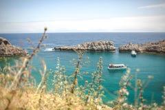 Seaview. Lindos Rhodes Greece beauty Royalty Free Stock Photos