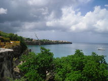 Seaview. From a lookout point in Curacao Royalty Free Stock Photography