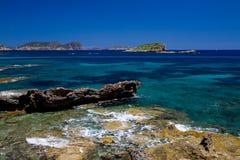 Seaview mediterrâneo Imagens de Stock