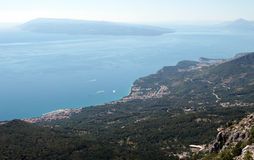Seaview from the mountain. Stock Images