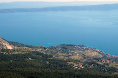 Seaview from the mountain. Royalty Free Stock Photos