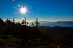 Seaview from a mountain. Near to Trondheim Royalty Free Stock Photos