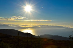 Seaview from a mountain. Near toTrondheim Stock Photos