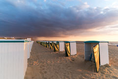 Seaview Noordwijk aan Zee holandie Obraz Royalty Free