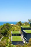 Seaview od above, tropikalny wybrzeże z hotelem Obraz Royalty Free