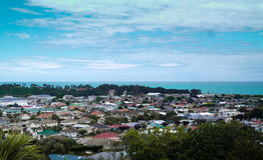 Seaview på Oamaru, Nya Zeeland Arkivbilder