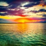 Seaview på solnedgången fantastisk liggande fotografering för bildbyråer