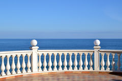 Seaview. Panorama from terrace with blue sky Stock Image