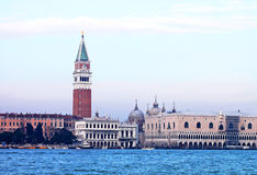 Seaview of Piazza San Marco and The Doge's Palace Stock Photography