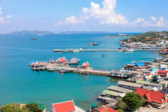 Seaview and the port. In Thailand stock images