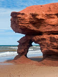 Seaview Red Sandstone Arch. A red sandstone arch eroded by the sea along Prince Edward Island's Seaview Coast, Canada. Note: It  is reported that this arch has Royalty Free Stock Image
