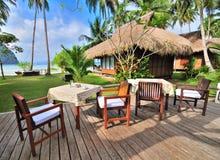 Seaview Restaurant. Breakfast at seaview restaurant of a tropical resort Royalty Free Stock Image