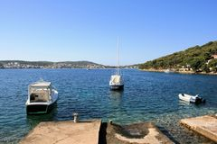 Seaview, Rogoznica, Croatie Photos stock
