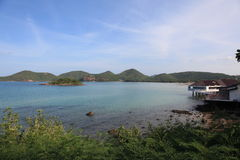 Seaview at sattahip. Island bluesea bay Royalty Free Stock Images