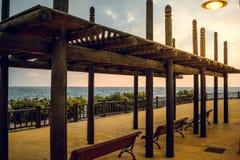 Seaview. Benalmádena Malaga spain, Sunset Stock Photography