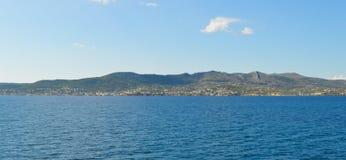 Seaview sobre el golfo de Saronic en Grecia, junio de 2017 Fotos de archivo libres de regalías