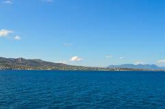 Seaview sobre el golfo de Saronic en Grecia, junio de 2017 Foto de archivo