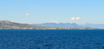 Seaview sobre el golfo de Saronic en Grecia, junio de 2017 Foto de archivo libre de regalías