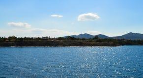 Seaview sobre el golfo de Saronic en Grecia, junio de 2017 Imagenes de archivo