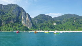 Seaview in Thailand on Ko phi phi don island Stock Image