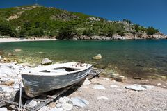 Seaview on the Thassos island. Greece Royalty Free Stock Photos