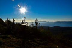 Seaview van een berg Royalty-vrije Stock Foto's