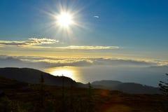 Seaview van een berg Stock Foto's