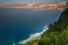 Seaview van omhoog Royalty-vrije Stock Fotografie