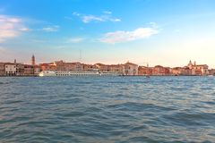 Seaview of Venice at sunset. Royalty Free Stock Image
