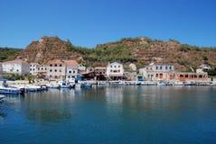 Seaview view at island Susak in Croatia Royalty Free Stock Photo