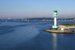 Seaview von der Kieler Förde lizenzfreies stockbild