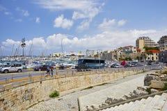 Seaview w Iraklion obrazy royalty free