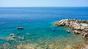 Seaview. Wild beach near Petrovac town, Montenegro Royalty Free Stock Photo
