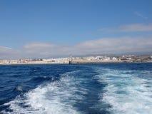 Seaviewen av Tarifa, Costa de la Luz royaltyfri foto