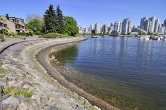 Seawall and Cityscape Royalty Free Stock Photography