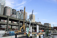 Seawall Construction Project royalty free stock photography