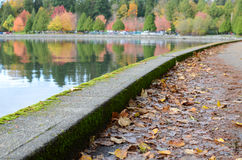 Seawall in the fall Royalty Free Stock Image
