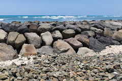 Seawall in Hawaii Stock Photos