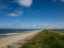 Seawall in the Netherlands Royalty Free Stock Images