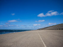 Seawall in the Netherlands Stock Image