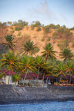 Seawall Protecting Candidasa Town on the Island of Bali, Indones Royalty Free Stock Photography
