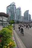 Seawall at Vancouver coal harbour Royalty Free Stock Photos