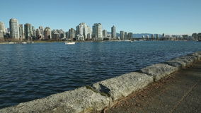 Seawall View, False Creek Ferry, Vancouver stock footage