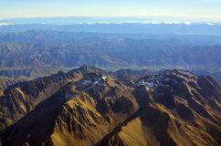 Seaward Kaikoura Mountains on An Autumn Morning Aerial stock image