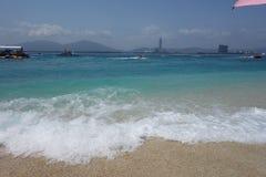 Seawater in Hainan, China royalty free stock photography