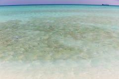 Seawater likes glasses. At Xisha Islands in China royalty free stock photography