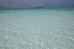 Seawater likes glasses. At Xisha Islands in China stock image