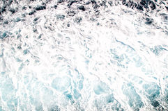 Seawater with meerschaum and waves. Aegean Sea Royalty Free Stock Photo