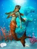 Seawater syrenka royalty ilustracja