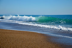 Seawaves. Beautiful waves on the beach Stock Photography